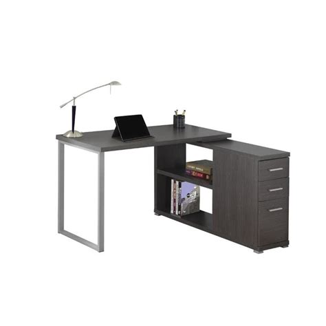 Grey L Shaped Desk L Shaped Computer Desk In Gray I 7135
