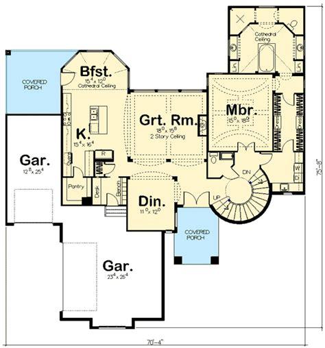 Spiral Stair Elegance   62493DJ   Architectural Designs