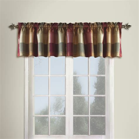 Brown And Green Curtains Designs United Curtain Company Plaid 54 Quot X 18 Quot Trendy But Tailored Polyester Valance Colors Blue Green