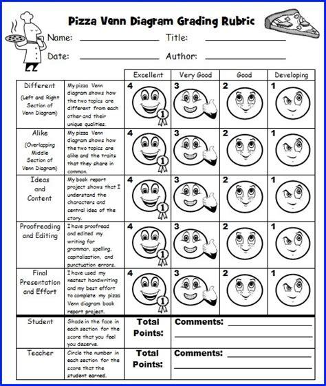 pizza venn diagram book report project templates
