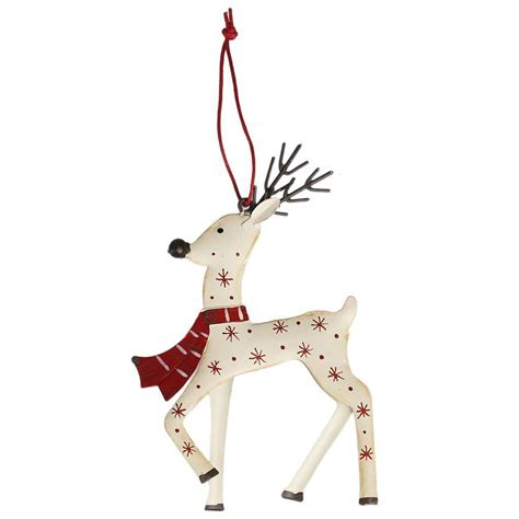 raindeer decorations white reindeer decoration dotcomgiftshop