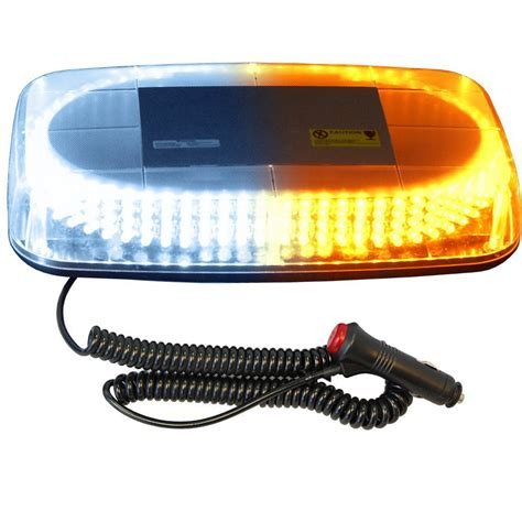 Strobe Led Light Bar Hqrp 240 Led Strobe White Emergency Warning Strobe Light Bar Magnetic Base Ebay