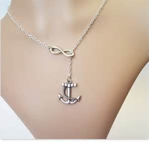 Infinity Anchor Jewelry Anchor Necklace Infinity Necklace Lariat Jewelry