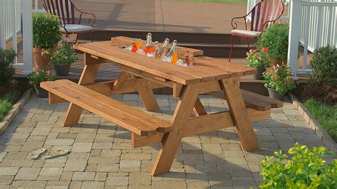 How To Build A Picnic Table With Built In Cooler At The