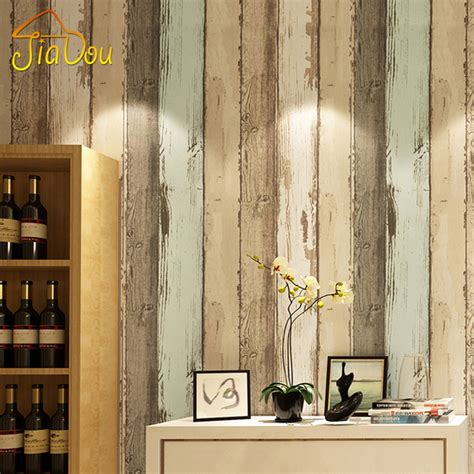 Wallpaper 3d Non Woven Fashion Modern Stripes 53cmx10m Pink 7065 modern vintage wood pattern striped non woven fiber wallpaper roll for 3d living room bedroom