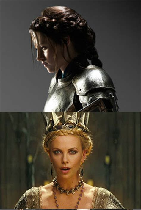 snow white and the huntsman hairstyle copy charlize theron s and kristen stewart s braided