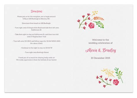 free printable wedding programs templates free printable wedding program templates tristarhomecareinc