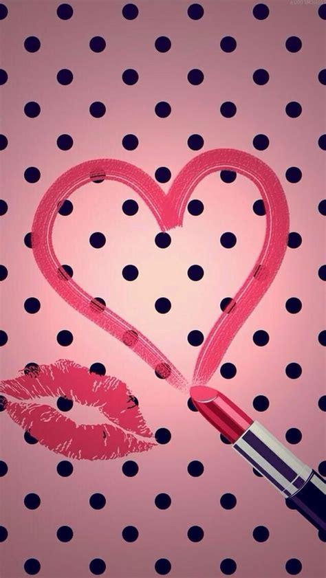 wallpaper pink lipstick lipstick kiss wallpaper backgrounds pinterest