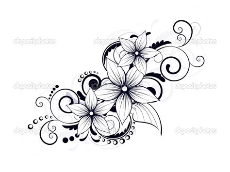 lily swirl tattoo designs depositphotos 21645299 floral design element with swirls