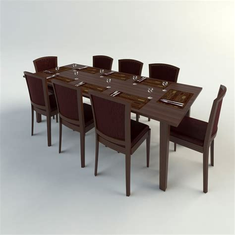 Dining Table Models Dining Table Chairs 3d Model