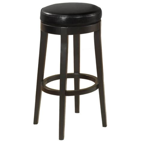 Black Swivel Stool by Armen Living 26 Quot Backless Swivel Counter Stool In