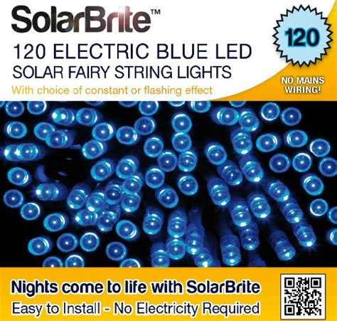 Solar Brite Solar Fairy Lights 120 Super Bright Blue Led Solar Brite Lights