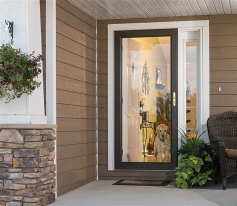 full view storm doors feature  full glass design