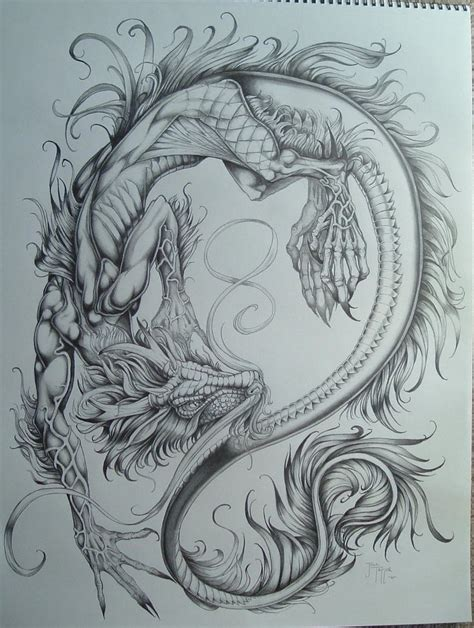dragon tattoo drawing dragons more