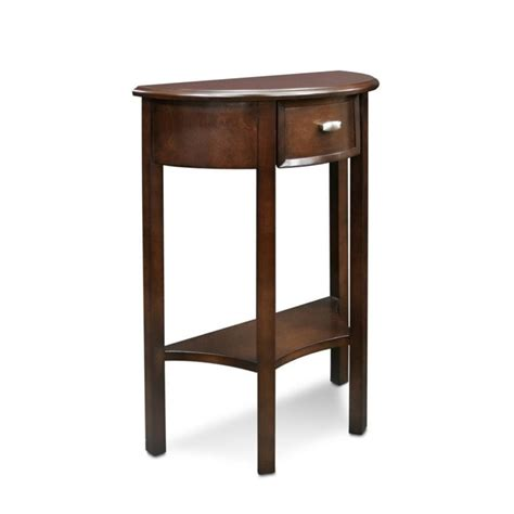 demilune accent table leick favorite finds demilune accent table in chocolate