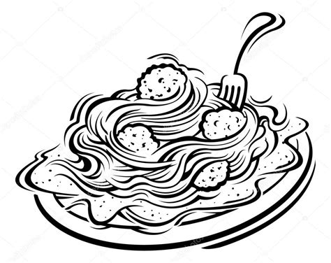 clipart illustrations illustration of spaghetti and meatballs stock vector