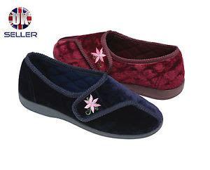 diabetic house slippers womens dunlop house slippers diabetic orthopaedic comfort wide fit velcro 3 8 ebay