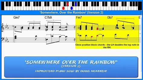 tutorial piano over the rainbow somewhere over the rainbow version 2 jazz piano