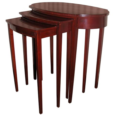 Mersman Table by Early 20th Century Mahogany Nest Of Three Tables By