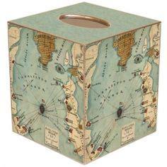 Murah Tissue Box Box Tissu Vintage Tempat Tissue Vintage tissue box cover on tissue box covers tissue boxes and antique maps