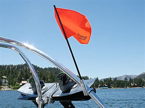 boat flags and holders aerial wakeboard tower adjustable flag holder skier down