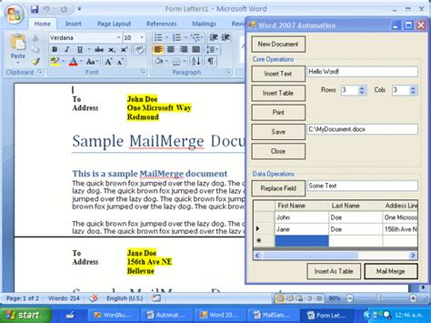 format excel spreadsheet for mail merge automate mail merge from excel vba automate office with