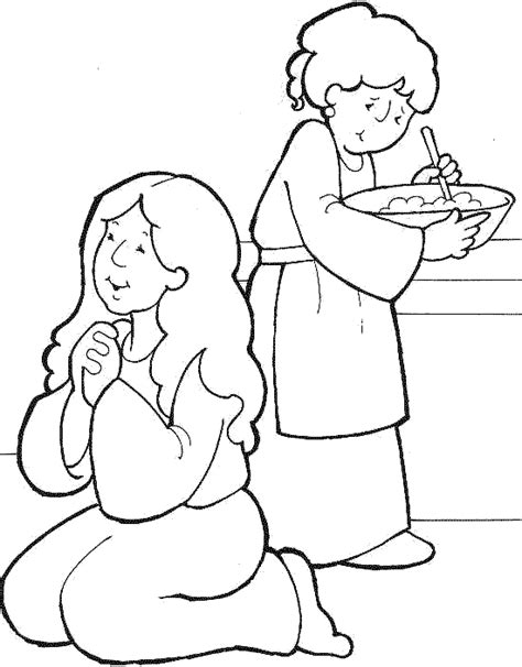 coloring pages jesus and mary jesus loved mary and martha coloring google search