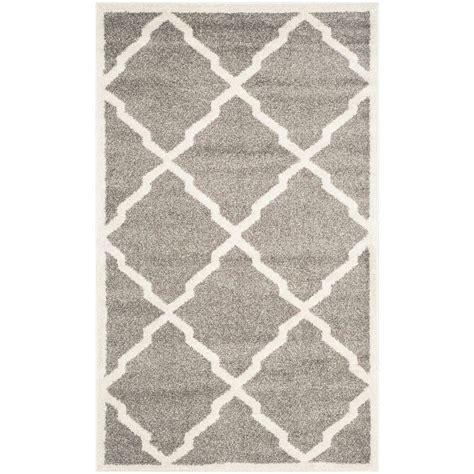 beige and gray rug safavieh amherst gray beige 3 ft x 5 ft indoor outdoor area rug amt421r 3 the home depot