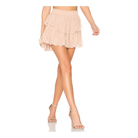 N Bab Skirt Ruffle loveshackfancy ruffle mini skirt nudevotion