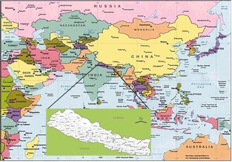 nepal world map nepal world map