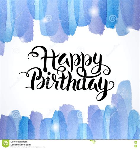 happy birthday creative design happy birthday lettering abstract watercolor colorful