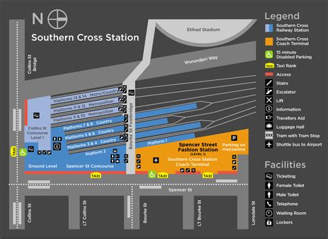 Southern Cross Sydney Mba by Southern Cross Station Melbourne Car Parking Map Shops