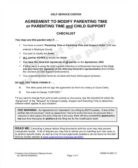 Parenting Agreement Templates 8 Free Pdf Documents Download Free Premium Templates Parenting Contract Template