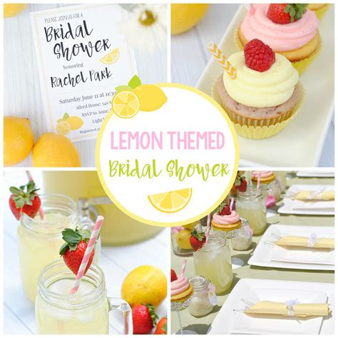 summer themed bridal shower favors lemon themed summer bridal shower squared