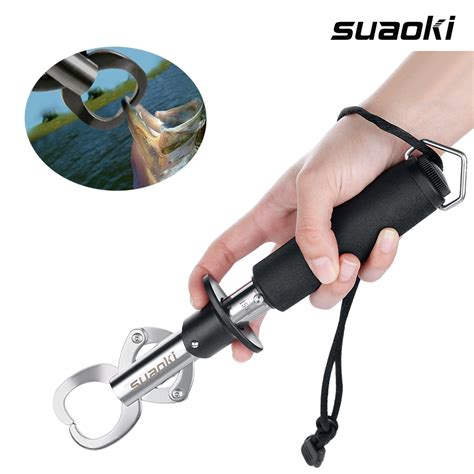 Portable Stainless Steel Fishing Gripper Tool Equipment suaoki portable stainless steel fish lip grabber gripper grip tool fishing gear ebay
