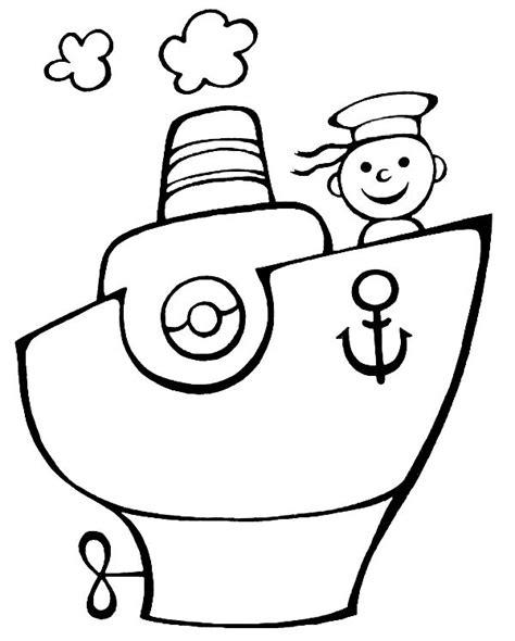 barco marinero dibujo barco con marinero dibujalia dibujos para colorear