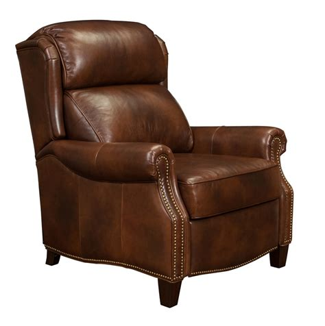 all leather recliner chairs meade all leather recliner worthington cognac 7 3058