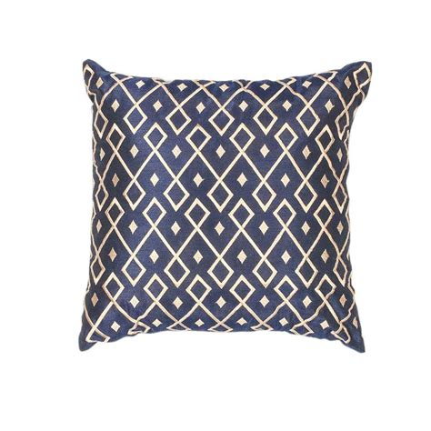 Navy And Gold Decorative Pillows Kas Rugs Sweet Diamonds Gold Navy Decorative Pillow