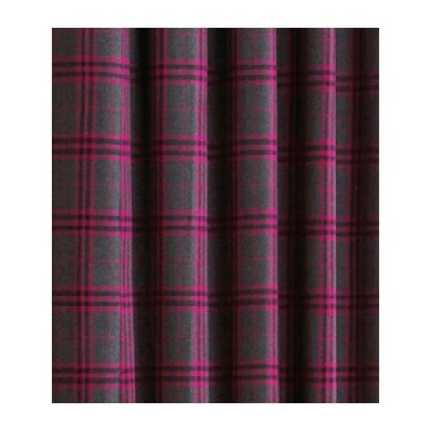 Pink Tartan Curtains with Riva Paoletti Zermatt Fuschia Pink Tartan Check Eyelet Curtains Riva Paoletti From Emporium