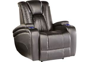 Kingvale Power Recliner Kingvale Black Power Recliner Recliners Black