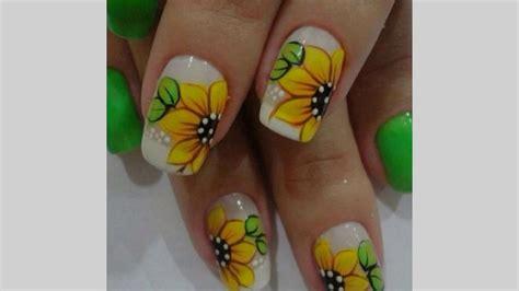 imagenes de uñas decoradas girasoles 218 ltimas tendencias en u 241 as decoradas con flores de girasol