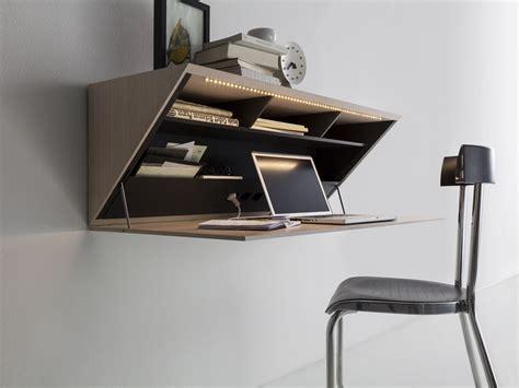wooden desk wall shelf segreto by molteni c