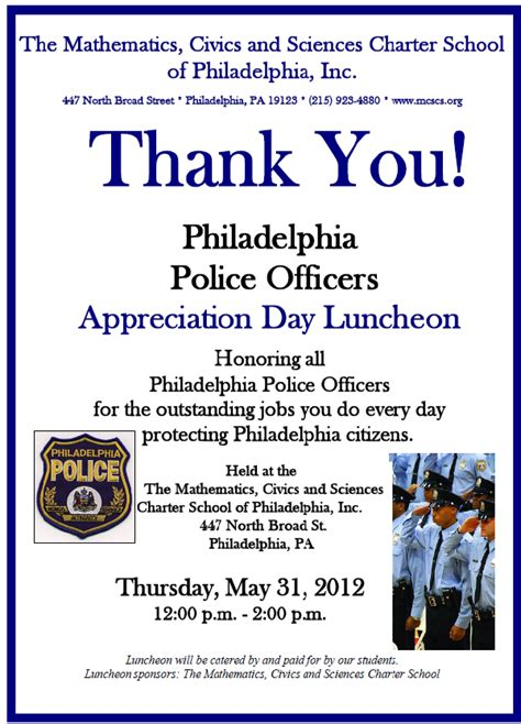 Officer Appreciation Day by 4th Annual Philadelphia Officers Appreciation