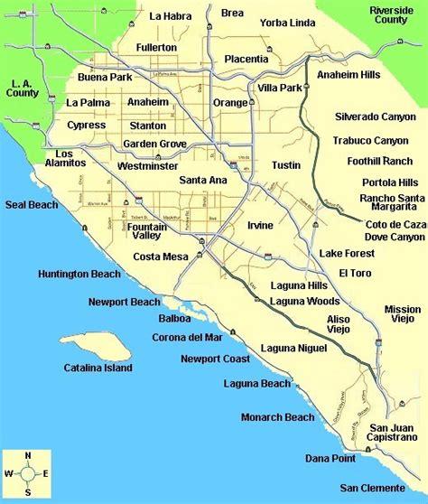 orange county california map orange county map