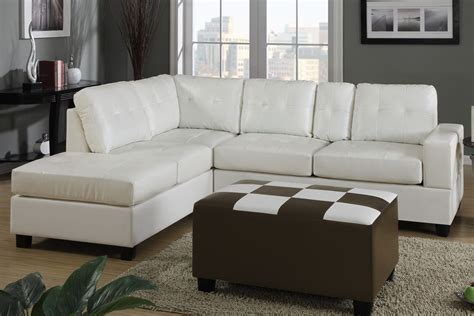 cream leather sectionals dante cream bonded leather sectional sofa steal a sofa