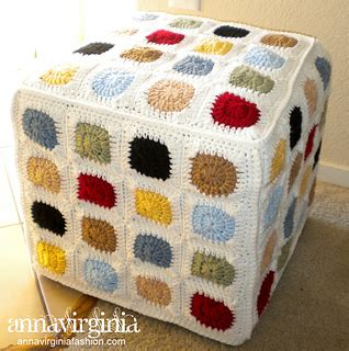 Ravelry Granny Square Ottoman Cover Pattern By Anna Virginia Ottoman Cover Pattern