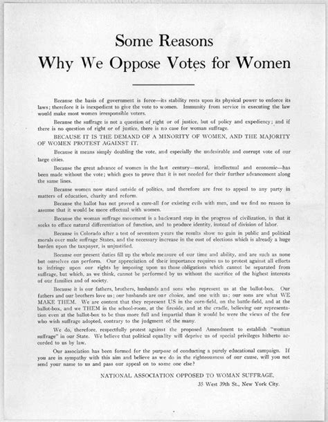 anti suffrage american woman suffrage dueling images