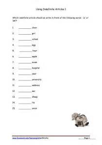 using indefinite articles 1 worksheet free esl printable