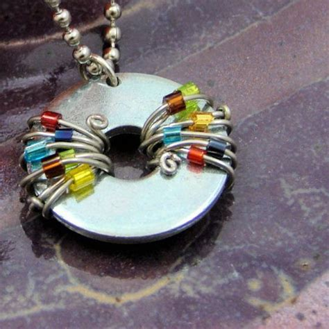 Funky Handmade Jewelry - 10 images about washer necklaces to make on