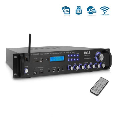 pyle pbt home  office amplifiers receivers